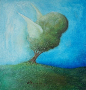 Dave's Tree With Wings, Oil on canvas